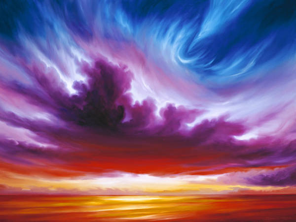 Skyscape Painting - In The Beginning by James Christopher Hill