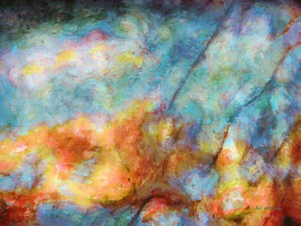 Painting - In The Beginning by RC DeWinter