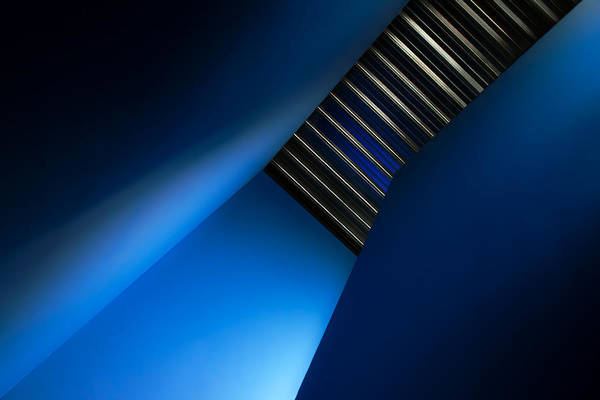 Staircase Wall Art - Photograph - In The Blues by Gilbert Claes