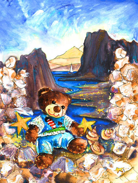 Wall Art - Painting - In The Cabo De Gata With Truffle Mcfurry by Miki De Goodaboom
