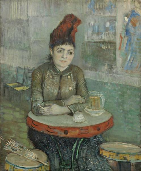 Painting - In The Cafe  Agostina Segatori In Le Tambourin Paris January  March 1887 Vincent Van Gogh 1853  by Artistic Panda