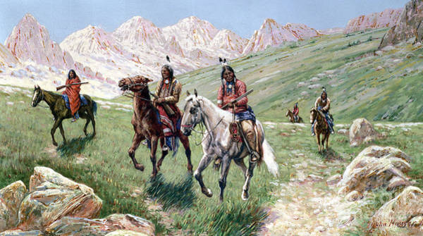 In The Wild Wall Art - Painting - In The Cheyenne Country by John Hauser