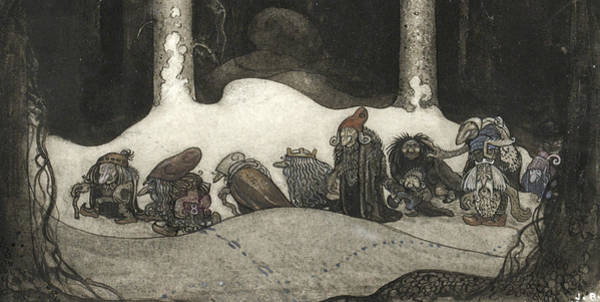Swedish Painters Wall Art - Painting - In The Christmas Night  by John Bauer
