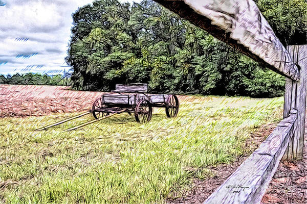 Wagon Digital Art - In The Deep South by Bill And Deb Hayes
