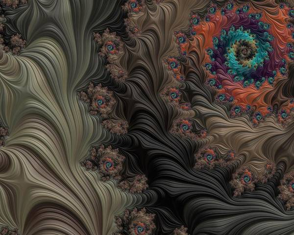 Wall Art - Digital Art - In The Deep Woods by Bonnie Bruno