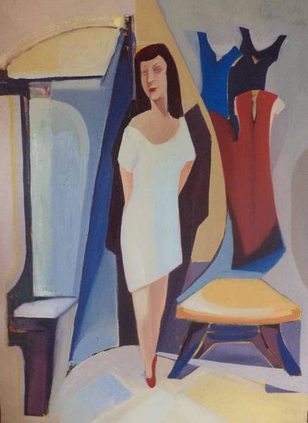 Wall Art - Painting - In The Dressing Room by Artem Paleshev