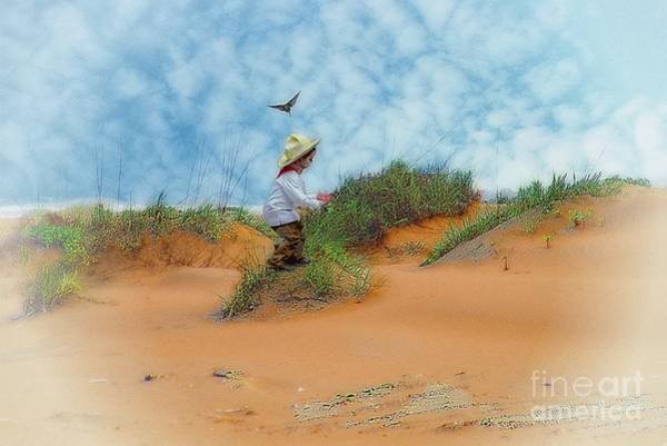 Photograph - In The Dunes With A Hummingbird by John Kolenberg