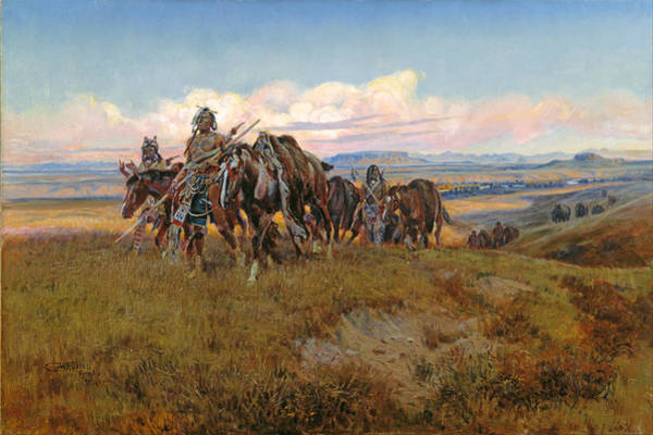 Prairie Digital Art - In The Enemys Country by Charles Russell