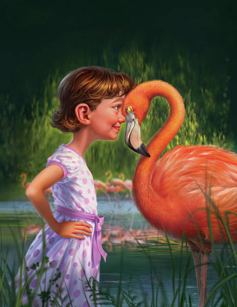 Flamingos Wall Art - Digital Art - In The Eye Of The Beholder by Mark Fredrickson