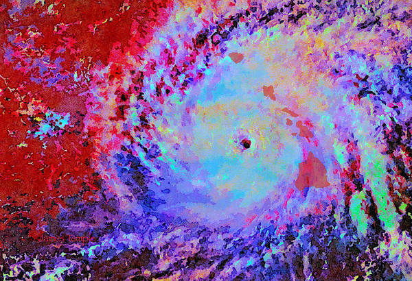 Hurricane Digital Art - Ten Day Forcast by James Temple