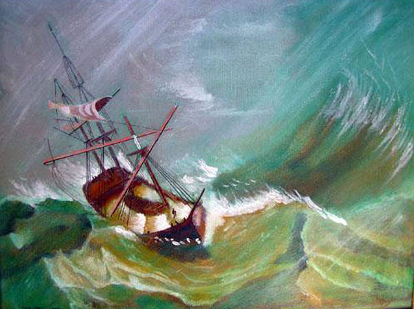 Painting - In The Eye Of The Storm by Richard Le Page