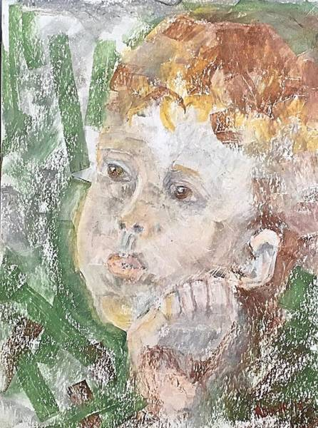 Pastel - In The Eyes Of A Child by Norma Duch