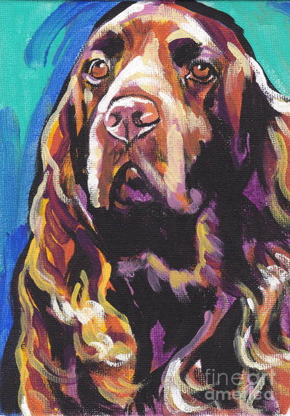 Field Spaniel Painting - In The Field by Lea S