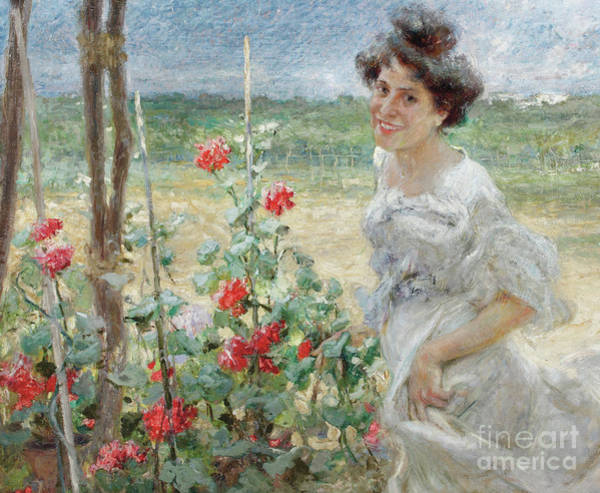Wall Art - Painting - In The Flower Garden, 1899 by Umberto Veruda