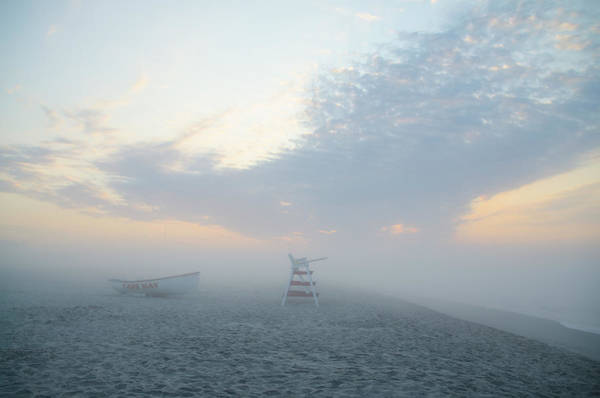 Wall Art - Photograph - In The Fog On Poverty Beach - Cape May by Bill Cannon