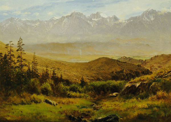 Foothills Wall Art - Painting - In The Foothills Of The Rockies by Albert Bierstadt