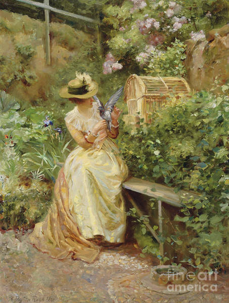 Victorian Garden Wall Art - Painting - In The Garden, 1892 by Robert Payton Reid