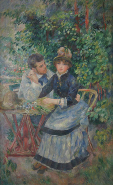 In The Garden  Art Print by Pierre Auguste Renoir