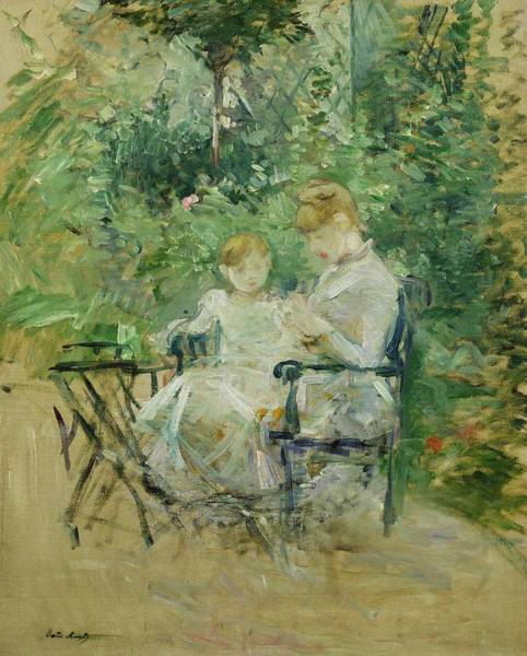 Victorian Garden Wall Art - Painting - In The Garden by Berthe Morisot