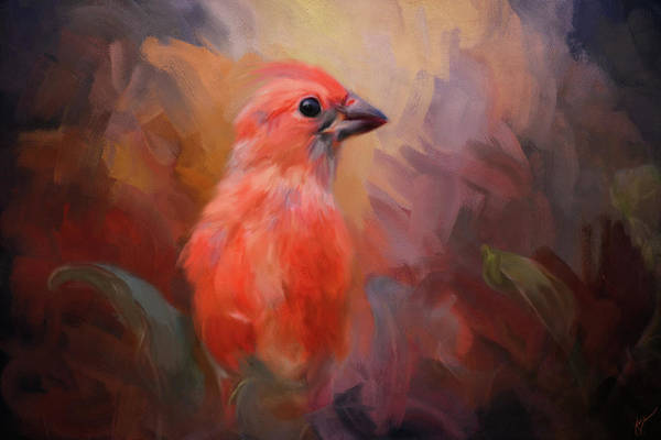 Painting - In The Garden Light Bird Art by Jai Johnson
