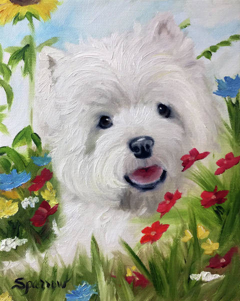 Smiley Face Wall Art - Painting - In The Garden  by Mary Sparrow