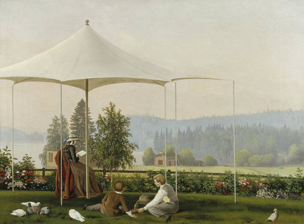 Painting - In The Garden Of Haminalahti by Ferdinand von Wright