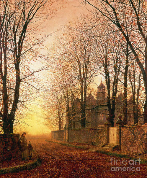 Wall Art - Painting - In The Golden Olden Time by John Atkinson Grimshaw