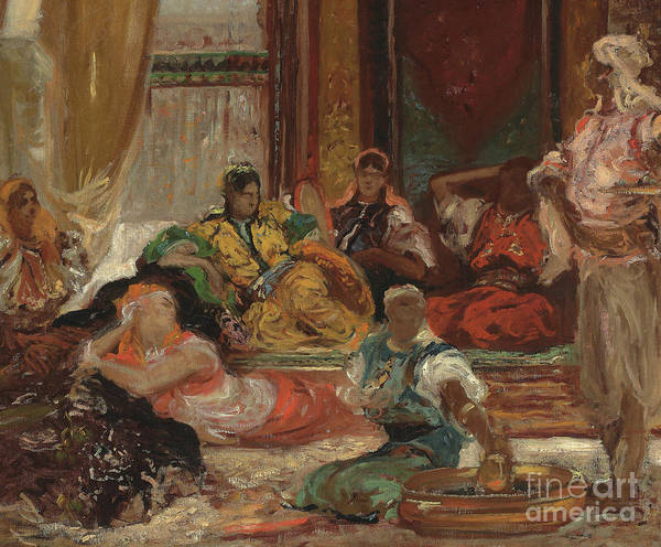Wall Art - Painting - In The Harem by Benjamin Constant