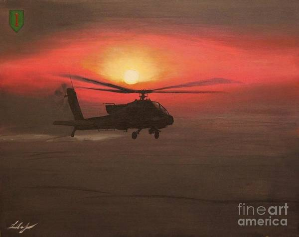 Baghdad Painting - In The Heat Of Night Over Baghdad by Leo Amoling