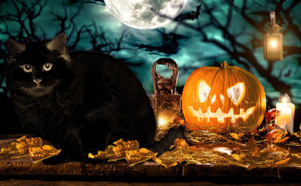 Trick Or Treat Digital Art - In The Heat Of The Night by Cynthia Leaphart