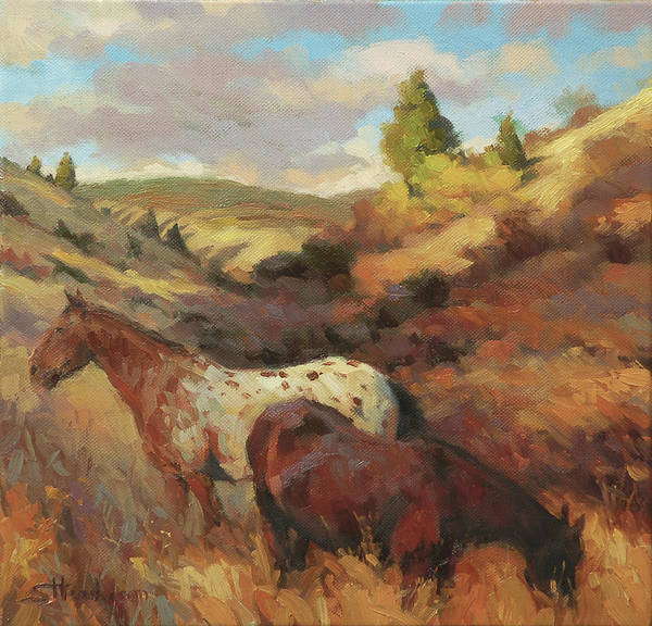Mane Wall Art - Painting - In The Hollow by Steve Henderson