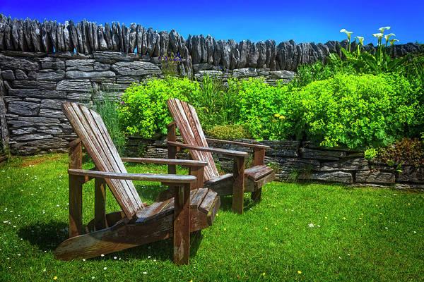 Muscovy Photograph - In The Irish Garden by Debra and Dave Vanderlaan