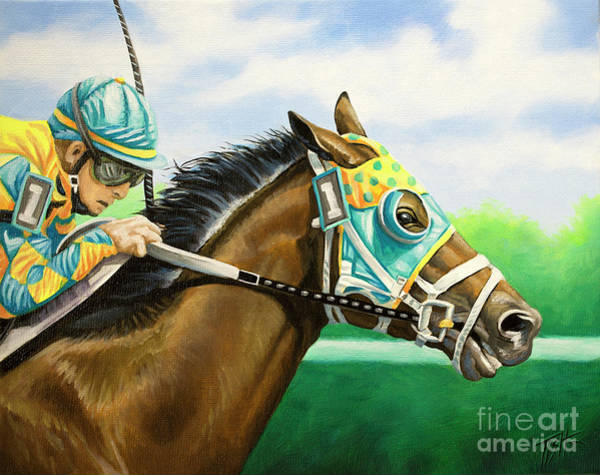 Painting - In The Lead by Tish Wynne