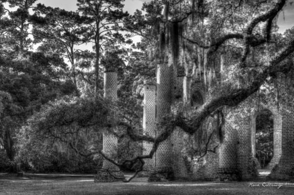 Photograph - In The Light 2 Spanish Moss Old Sheldon Church Ruins by Reid Callaway