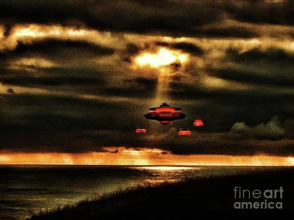 Scifi Digital Art - In The Light By Raphael Terra by Raphael Terra