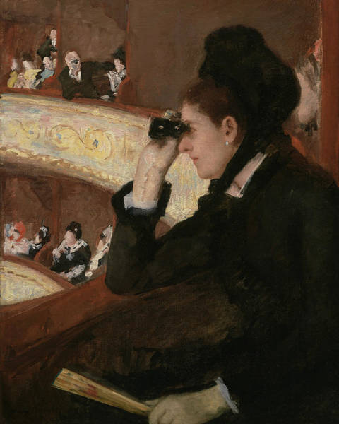 Painting - In The Loge by Mary Cassatt