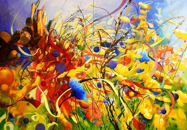 Protein Painting - In The Meadow by Georg Douglas