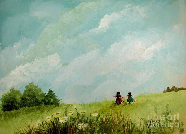 Painting - In The Meadow by Marilyn Smith