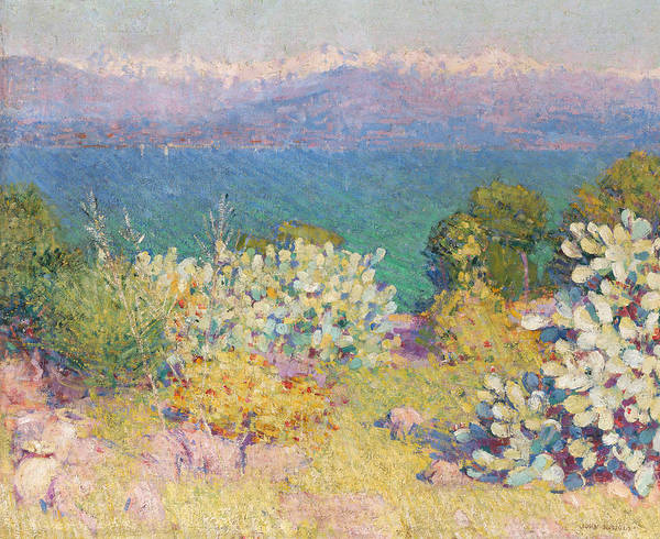 Painting - In The Morning, Alpes Maritimes From Antibes by John Peter Russell
