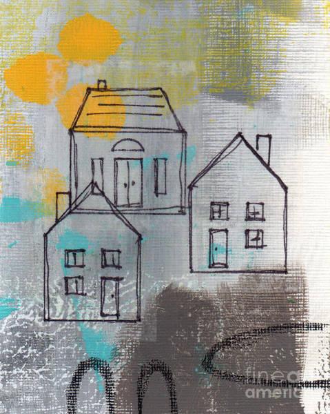 Tan Wall Art - Painting - In The Neighborhood by Linda Woods