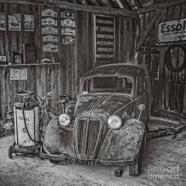Car Part Photograph - In The Old Garage by Pd