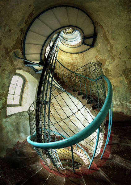 Photograph - In The Old Lighthouse by Jaroslaw Blaminsky