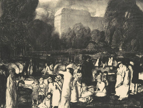 Relief - In The Park, Light by George Bellows