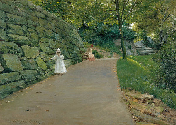 Painting - In The Park by William Merritt Chase