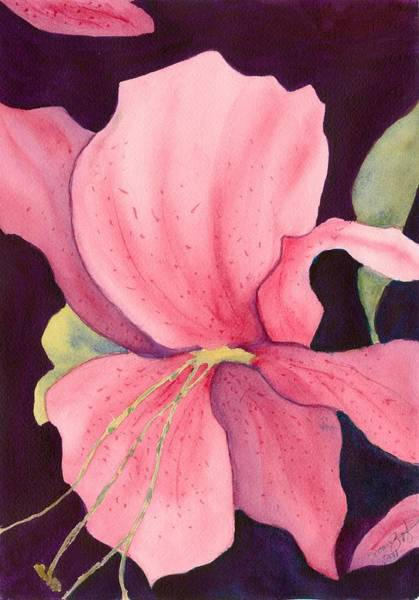 Tigerlily Wall Art - Painting - In The Pink by Joan Zepf