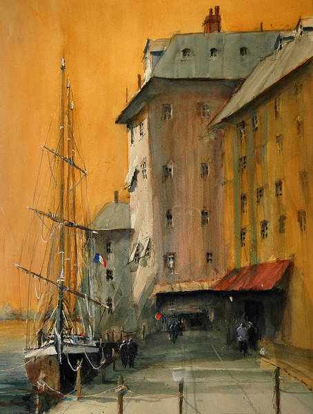 Painting - In The Port Of Marseille by Charles Rowland