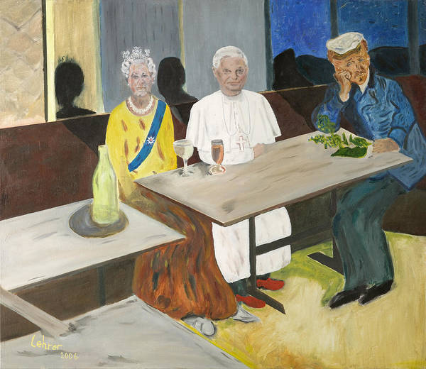 Avi Painting - In The Pub by Avi Lehrer