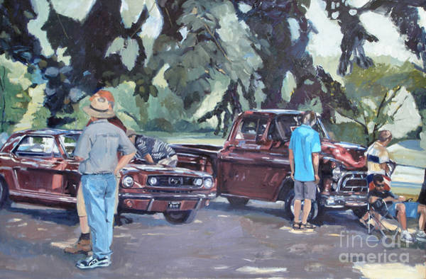 Collector Car Painting - In The Red by Deb Putnam