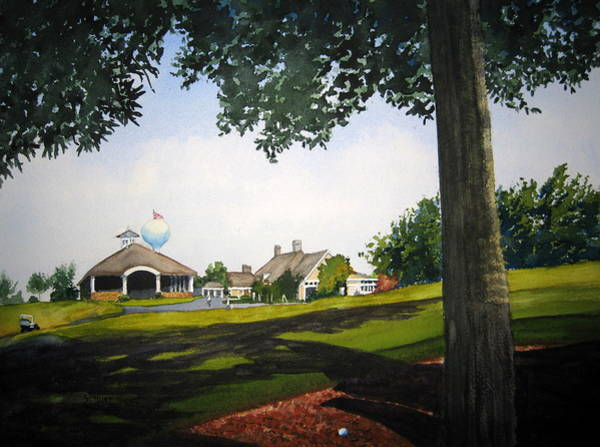 Country Club Painting - In The Rough by Shirley Braithwaite Hunt