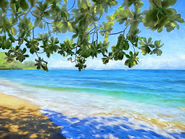 Painting - In The Shade At Hanalei Bay by Dominic Piperata